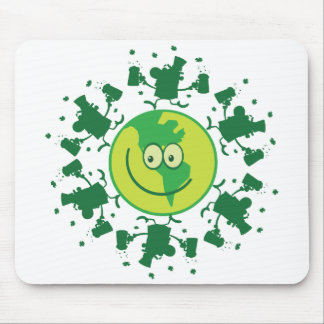 St Paddy s Day Beer Toast with Leprchauns Mousepads
