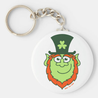 St Paddy s Day Leprechaun Smiling Key Chains