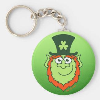 St Paddy s Day Leprechaun Smiling Keychain