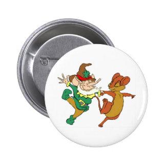 St. Paddy's Odd Couple 6 Cm Round Badge