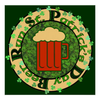 St Paddy's Beer Run Poster
