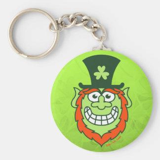St Paddy's Day Naughty Leprechaun Basic Round Button Key Ring
