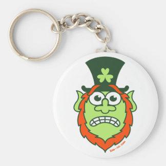 St Paddy's Day Stressed Leprechaun Basic Round Button Key Ring
