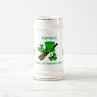 St Paddy's Day top hat, shamrock and shillelagh Coffee Mugs