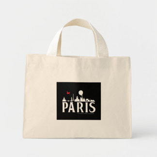 st_paris-skyline-bag mini tote bag