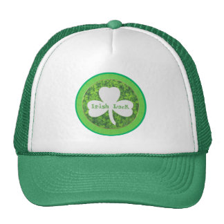ST PATRIC+S DAY , IRISH LUCK, SHAMROCK LOGO CAP