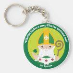 St. Patrick Basic Round Button Key Ring