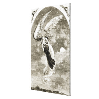St. Patrick carried to Rome by the angel, from 'Th Canvas Print