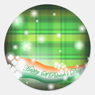 St Patrick celebration cards Round Sticker