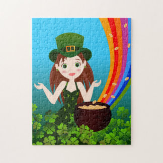 St Patrick Day girl Puzzles