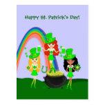 St Patrick Day's Leprechaunettes Postcard
