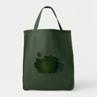 St Patrick Heart Chakra Hunter Green Grocery Tote Tote Bags