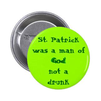St. Patrick Man of God 6 Cm Round Badge