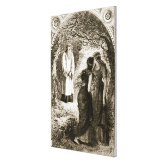 St. Patrick met by virgins in the wood of Fochlut, Canvas Print