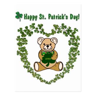 St Patrick s Bear Postcard
