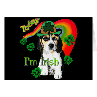 St Patrick s Day Beagle Greeting Cards
