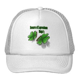 St Patrick s Day beware the leprechaun ninja s Trucker Hat