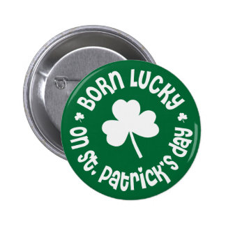 St Patrick s Day Birthday Buttons