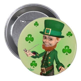 St Patrick s Day Button - Leprechaun