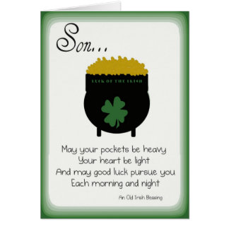St Patrick s Day Cards for Son