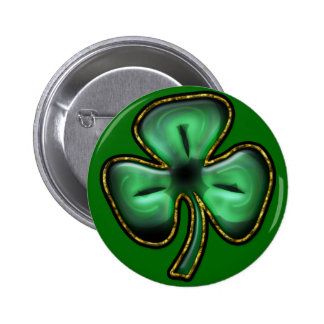 St Patrick s Day Clover Button
