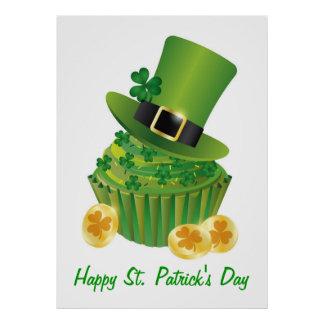 St Patrick s Day Cupcake Poster