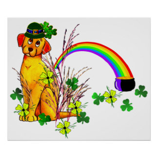 St Patrick s Day Dog Print