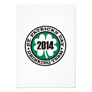 St Patrick s day drinking team 2014 Invite