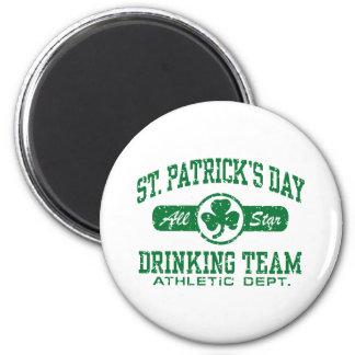 St Patrick s Day Drinking Team Refrigerator Magnet