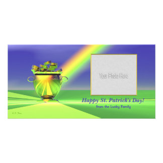 St Patrick s Day Gold Pot of Gold Photo Greeting Card
