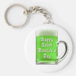 St. Patrick's Day Green Beer Keychain