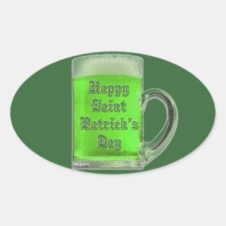 St. Patrick's Day Green Beer Mug Sticker