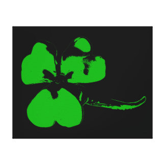 St. Patrick's Day Green Clover - Canvas