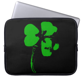 St. Patrick's Day Green Clover - Laptop Sleeve