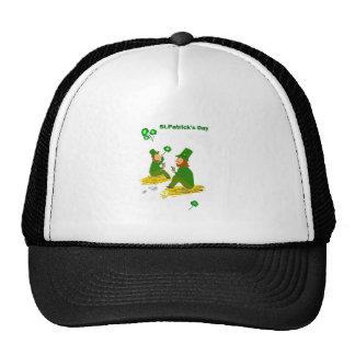 St Patrick s Day Green Leprechauns Mesh Hat
