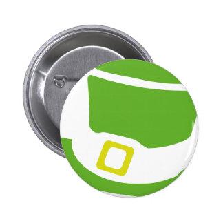 st. patrick´s day hat 6 cm round badge