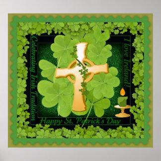 St. Patrick's Day I Love Ireland Poster