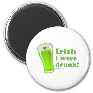 St Patrick s Day Irish I were Drunk glass Fridge Magnet