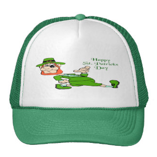 St Patrick s Day Leprechaun Mesh Hat