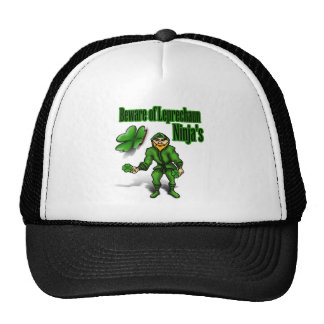 St Patrick s Day leprechaun ninja Mesh Hats