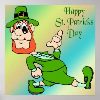 St Patrick s Day Leprechaun Poster
