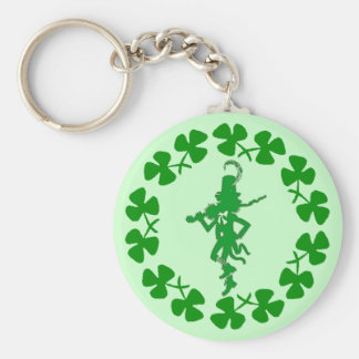 St. Patrick's Day Leprechaun Shamrock Ring  Keycha Keychains