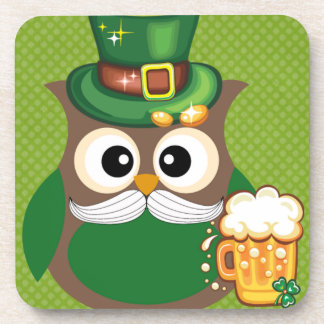 St. Patrick's Day Owl Coaster