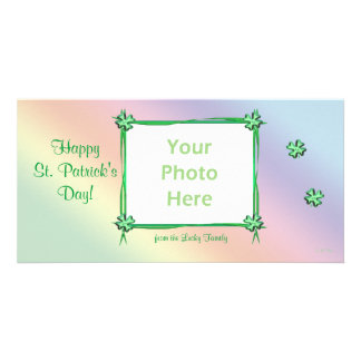 St Patrick s Day Pastel Rainbow Photo Card Template