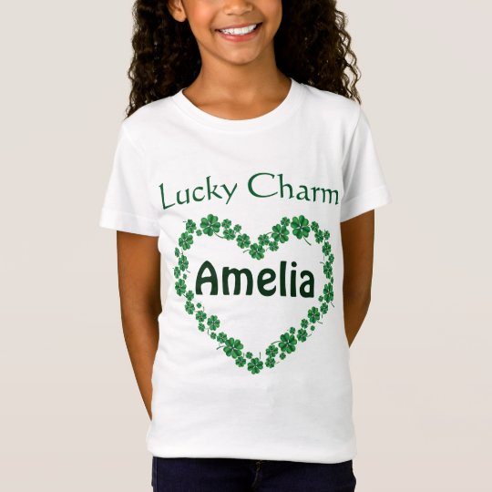 St. Patrick's Day Personalised name Lucky Charm T-Shirt