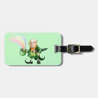 St Patrick s Day rainbow leprechaun Tag For Luggage