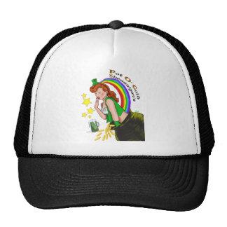St Patrick s Day - Redhead Lady Leprechaun Hats