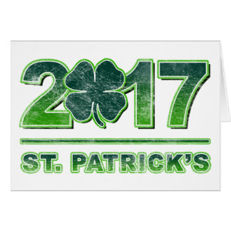 St. Patrick's Day Shamrock 2017 Greeting Card