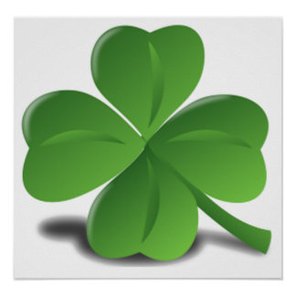 St. Patrick's Day Shamrock Clover Poster