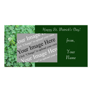 St Patrick s Day Shamrock Photo Card Template